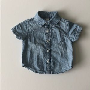 Old Navy baby boy chambray button down shirt